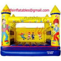 Quality inflatable 0.55mm pvc tarpaulin jumping castle BO058 for sale