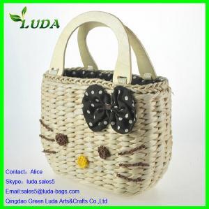 Quality Promotional cheap corn husk straw shoulder bag for sale