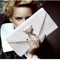 China 2016 new leather female fox head inlay diamond evening bag clutch leather clutch bag on sale