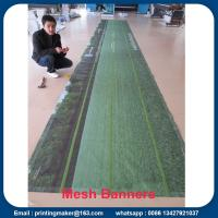 China Outdoor Fence Vinyl Mesh Banners With Velcro on sale