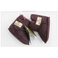 Quality 2017 Wholesale full sheepskin warm infant first walkers booties baby winter shoes,factory cost for sale