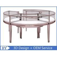 Quality Stainless Steel Frame Jewellery Shop Display Counters , Jewellery Showroom Furniture for sale