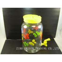China clear Glass dispenser with plastic lid on sale