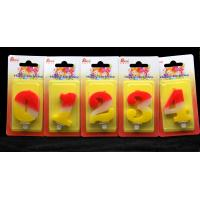 Quality Contrast Color 100% Handmade Number Candle with Red and Yellow Coloring for sale