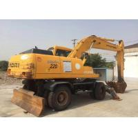 China Hyundai 220 Used Wheel Excavator with Weight 21800kg Original Made In Korea on sale