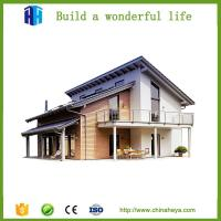 sound proof steel frame prefabricated villa house construction in ...