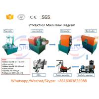 China Small Waste Tyre Shredding Machine , Steel Cryogenic Tire Recycling Equipment on sale