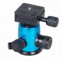 Quality B series professional ball head for camera accessories, comes in black, blue and gold for sale