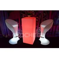 China Movable Led Bar Furniture / Tall Bar Stools Illuminated Wine Bar Table on sale