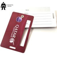 PersonalizedPVC Business Cards Offset Printing , Travel Luggage Name Tag Airlines supply