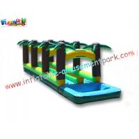 China Residential Blow up Slip and Slide , Outdoor Small Inflatable Water Slides for Adults on sale