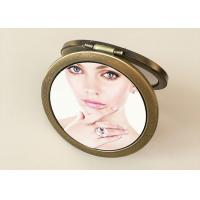 Quality Personalized PU Leather Makeup Cosmetic Pocket Mirror With Custom 3D Printing for sale