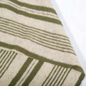 China Korea Stripe Yarn Dye 50% Linen 50% Cotton Fabric For Clothing on sale