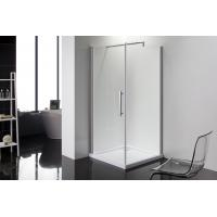 Quality Square 6m Door Thickness Shower Enclosures Bathroom Shower Stalls Stripe Glass for sale
