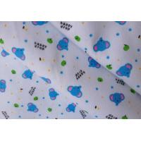 Quality brush printed cotton flannel fabric for sale