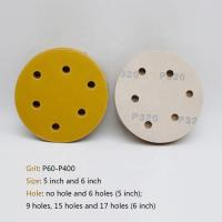 Quality Hook / Loop Round Sanding Paper , Aluminum Oxide Abrasive 5 Inch Round Sanding Discs for sale
