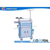 Buy cheap Abs Medical Hospital Carts Emergency Trolley Stainless steel guard rail and dust basketball from wholesalers