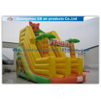 China Jungle Fun Inflatable Water Slide Bounce House / Inflatable Jumping Castle For Party on sale