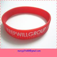 manufacture  customized silicon wristband in high quality and the cheapest price