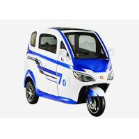 Quality Adjustable Seat Enclosed Electric Tricycle 1200 Watt 3 Wheels Disc Brake for sale