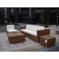 Quality Outdoor Indoor PE Rattan Sofa With Side Sofa , Middle Sofa , Ottoman , Coffee Table for sale