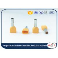 Quality Double Crimping Ferrule Insulated Cord End Terminals Orange pre-insulation terminal for sale