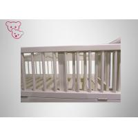 Quality Universal Castor Wooden Baby Cot Pro - Environment Paint For 0 - 6 Years for sale