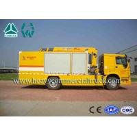 Quality Yellow Large Flow Drainage rescure truck With Anti Slip Handrails HOWO for sale