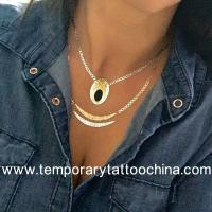 Quality 2015 custom temporay gold foil flash tattoo for sale