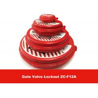 Quality New Standard ABS  2.5'' - 5'' Red Gate Valve Lockout , Safety LOTO Equipment for sale