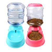 Quality Dog Automatic Drinking Fountain Cat Automatic Feeding Cat Dog Food Bowl Gravity Drinking Basin 3.5L for sale