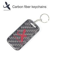 Quality Multi-functional Vechicle Accessory Gift Items 3D Carbon Fiber Keychains Carbon Fibre Keytags for sale