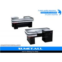 China Steel Body Grocery Store Checkout Counter Casher Table With Corrsion Protection on sale