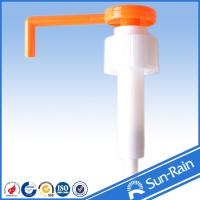 Quality Orange & white long nozzle plastic 28mm lotion pump for medical use for sale