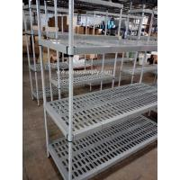 China Carbon Steel Or SUS Upright Material Commercial Wire Shelving , Anti - Microbial Polymer Shelving on sale
