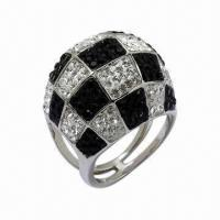 Quality Ring with Swarovski Jewelry, Sterling Silver Ring with Crystal for sale