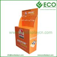 Quality Retail Floor Display For Battery, Supermarket Floor Display Stand With Hooks for sale