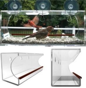 Quality window bird feeder/clear window bird feeder/acrylic window bird feeder for sale