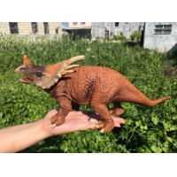 Quality L30*W10*H14 Walking Triceratops Toy / Plastic Triceratops Dinosaur Toy for sale