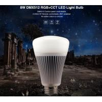 China Milight Wifi 8W DMX512 RGB+CCT LED Light Bulb 2.4G RF All color RGB with dual white 3000k to 6000K led bulb with APP on sale