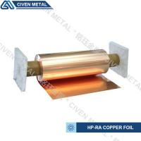 Quality High Conductivity Surface Degreasing Copper Foil Roll , Tolerances ±0.001 for sale