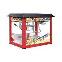 Quality Painting Iron Countertop Popcorn Machine With Organical Glass For Snack Shop for sale