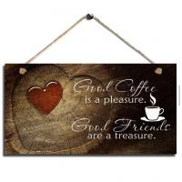 Quality cheap wall decor home decor wood sign plaque coffee wall hanging live laugh love wall decor wall decoration ideas for sale