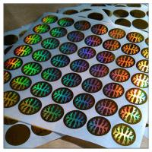 China Custom print Anti-fake authentic adhesive hologram label ,secure genuine hologram sticker label on sale