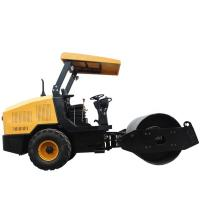 Quality 3.5 Tons Hydraulic Single Drum Vibratory Road Roller With Yellow Color for sale