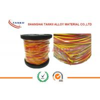 Quality 20 awg 24awg wire 0.5mm Thermocouple wire Type K   L  U  X  With PTFE / Fiber Glass / PVC /  Insulation with high temp for sale