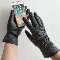 New design leather touch screen gloves