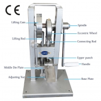 Quality TDP0 single punch tablet press machine pill maker pill press machine Suitable for laboratory test and small-scale for sale