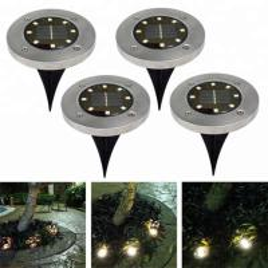 China Yellow Solar Powered LED Ground Lights / Solar Powered Walkway Lights on sale