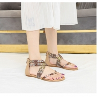 Quality BS052 Wedge Heel Sandals Women'S BS048 Amazon Bohemian Sandals 2020 Summer New European And American Casual Sub-Ethnic R for sale